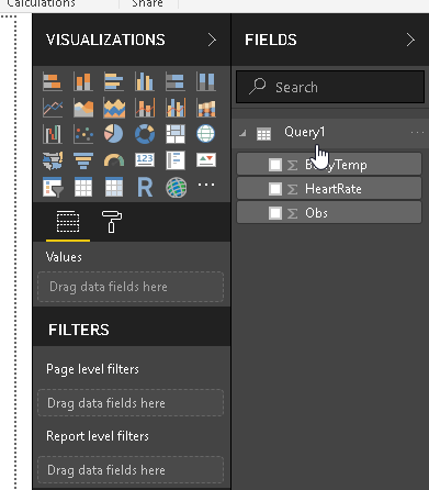 View data source, field details in PowerBI dataset