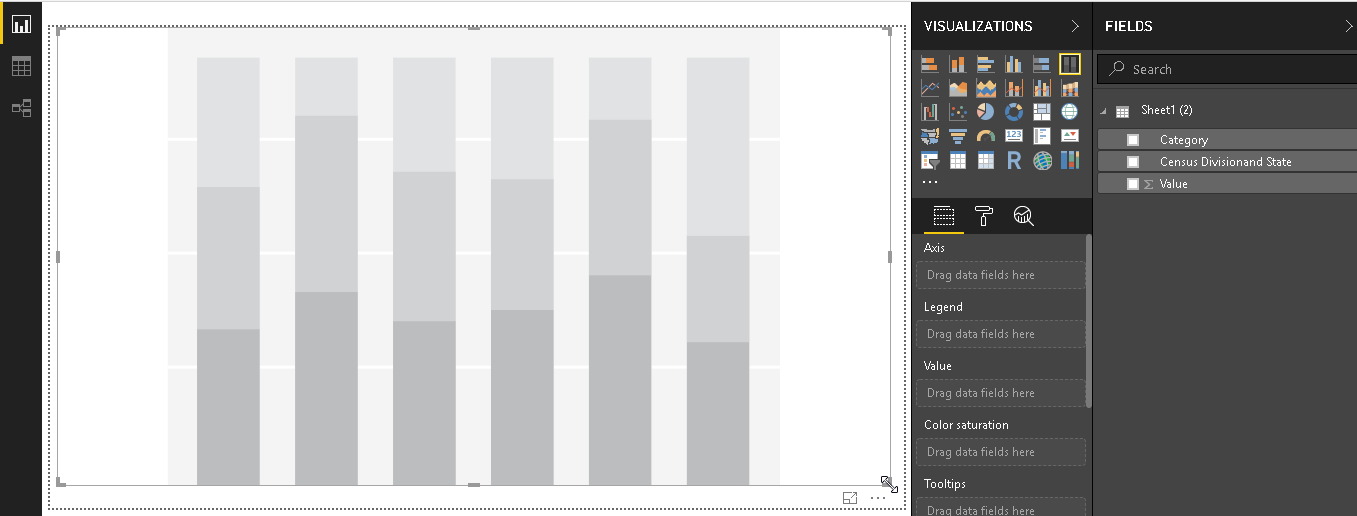 Mekko chart- Create 100% Stacked Column Chart