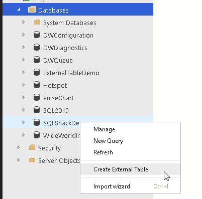 PolyBase - Create External Table SQL 2019