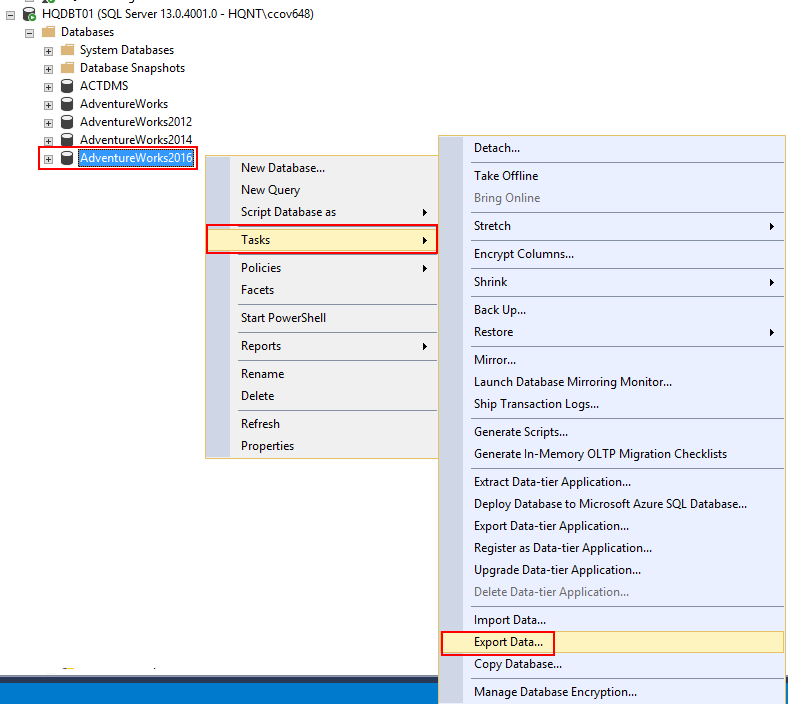 Six different methods to copy tables between databases in