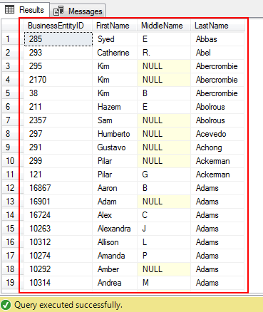 SQL Order by clause in a SQL query results