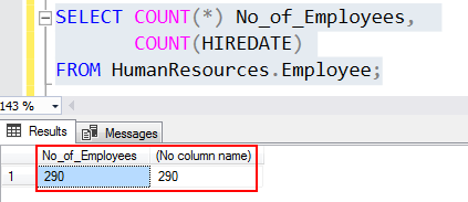 Using SQL Count for all columns and with a column name