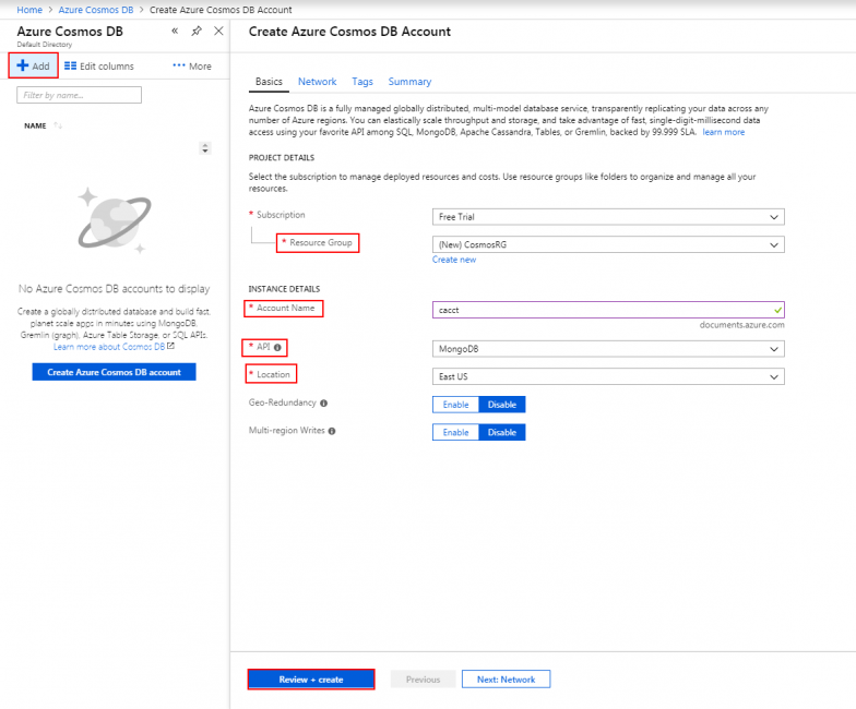 Applying Field Operators and Objects in Azure Cosmos DB