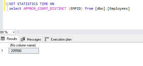 The new SQL Server 2019 function Approx_Count_Distinct