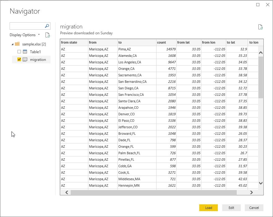 Flow Map Chart in Power BI Desktop