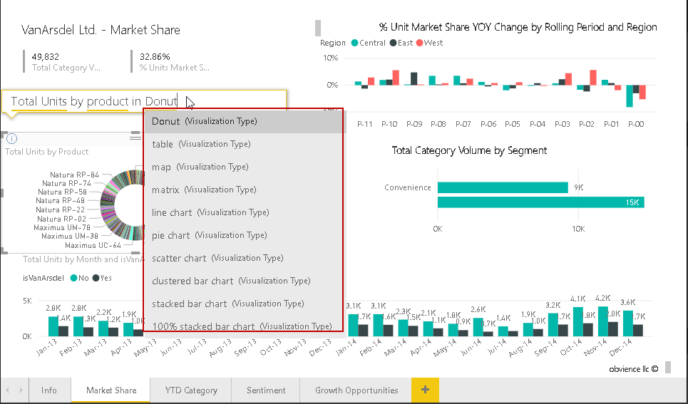 Ask a Question feature in Power BI Desktop