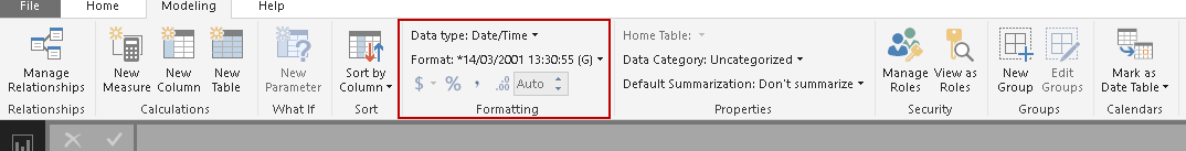Ask a Question feature in Power BI Desktop