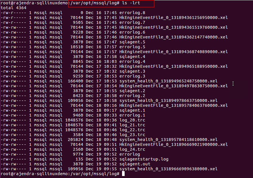 Changing SQL Dump file locations in SQL Server on Linux