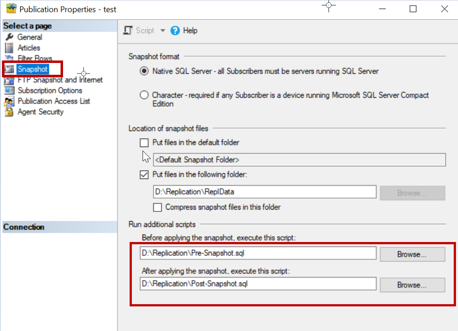Foreign key issues while applying a snapshot in SQL Server