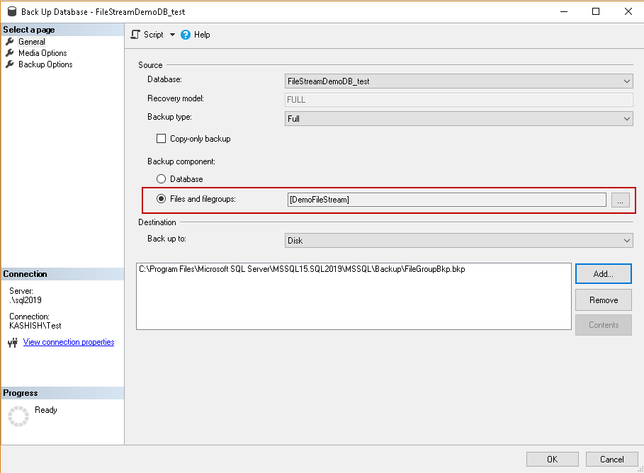 SQL Server FILESTREAM database recovery scenarios