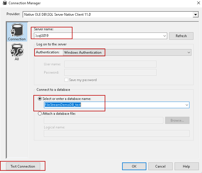 Importing SQL Server FILESTREAM data with SSIS packages