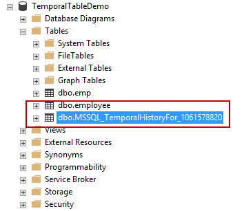 Dropping temporal tables with SSMS