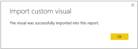 Importing custom visuals in Power BI