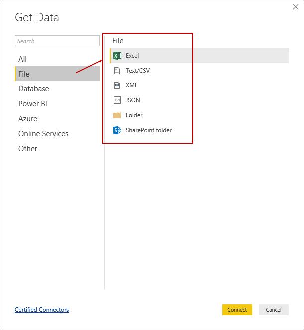 Importing data from a PDF file in Power BI Desktop
