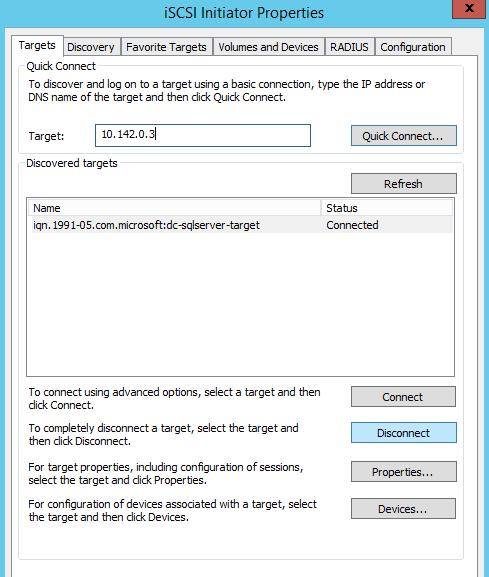 iSCSI, iSCSI Initiator, Quorum Configuration and SQL Server