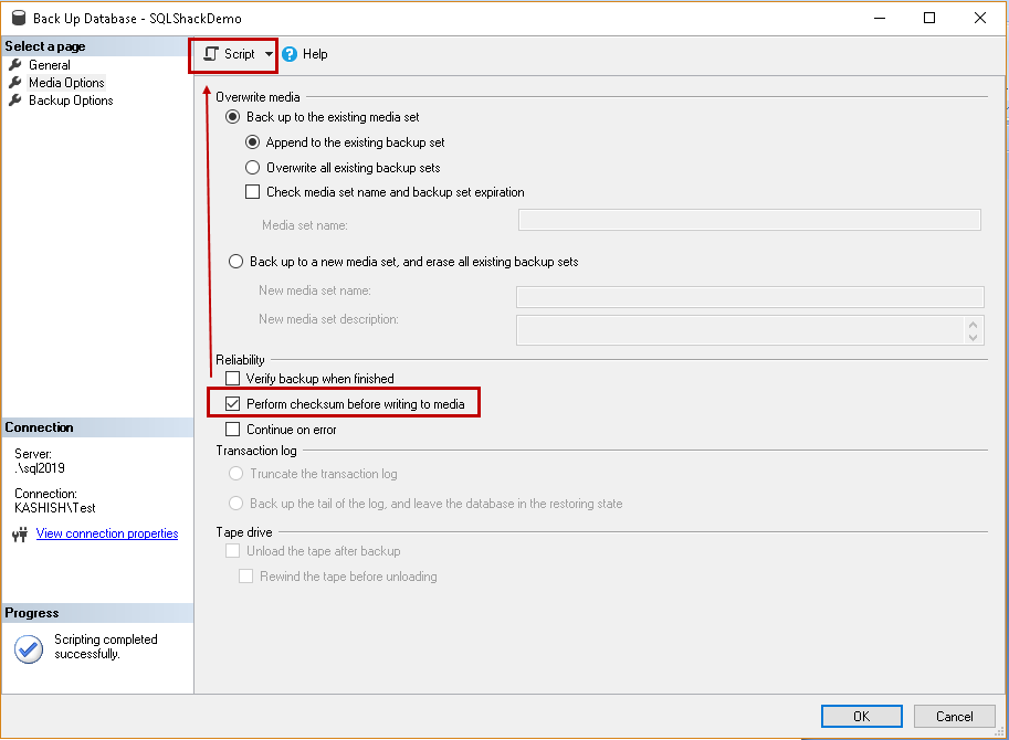 How to recognize corrupted SQL backup files