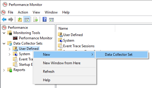 Opening SQL Server monitoring tools interface to observe watch counters