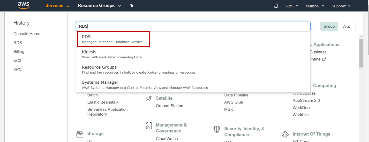 AWS RDS SQL Server – Launching a new database instance
