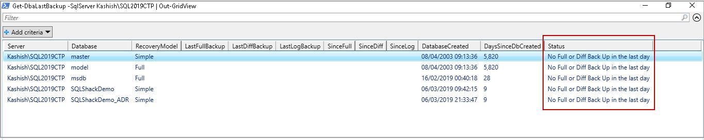 SQL Database Backups using PowerShell Module - DBATools