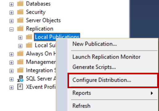 Configure Distribution