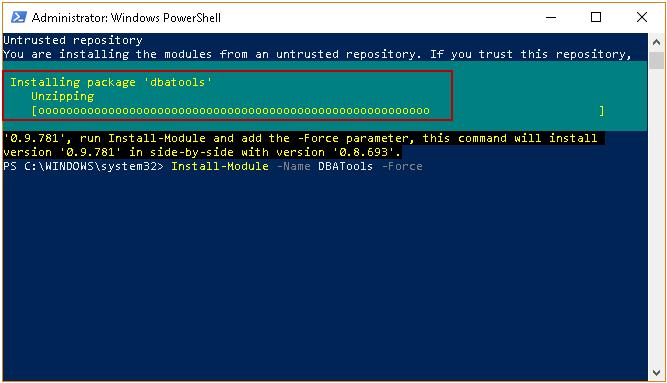 Powershell Install Module
