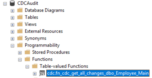 Querying of the change tables is not recommended by Microsoft. Instead, you can query the cdcCDC.fn_cdc_get_all_changes system function associated to the CDCCDC enabled table
