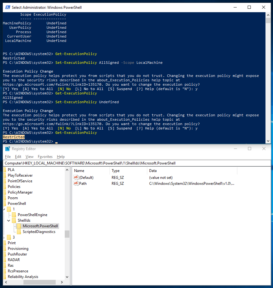 Choosing and Setting a PowerShell Execution Policy