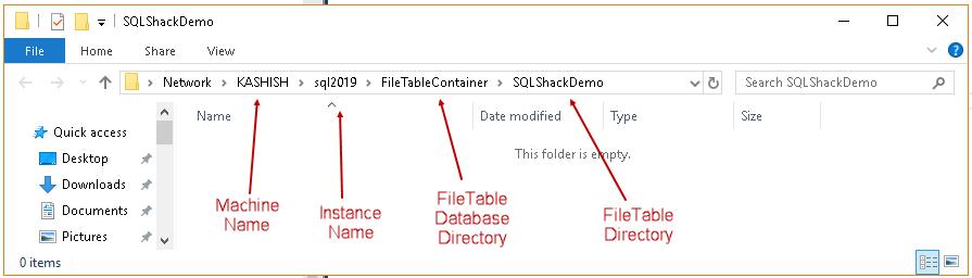 Managing Data in SQL Server FILETABLEs