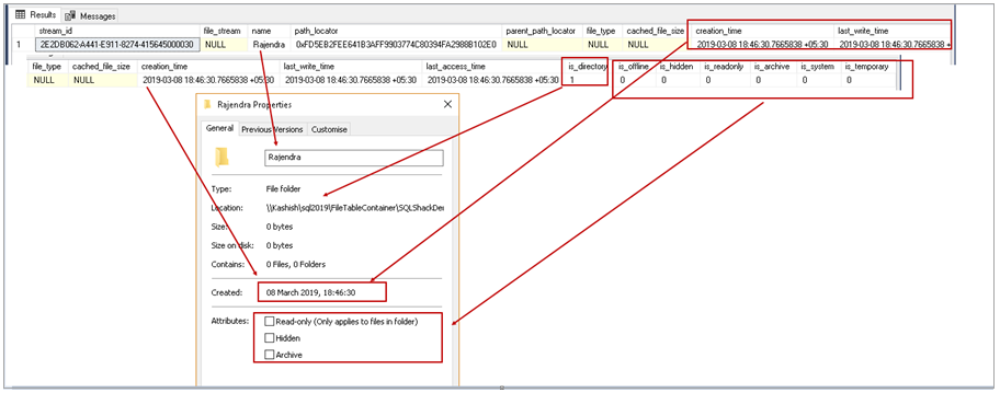 SQL FILETABLE root folder structure and child folder mapping with SQL Server FILETABLE