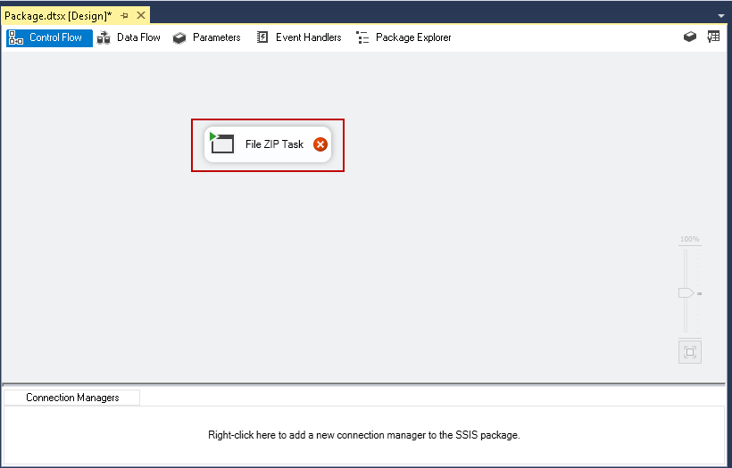 SQL import of compressed data: Rename the Execute Process Task