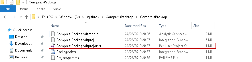 SQL import of compressed data: SSIS Solution in the directory