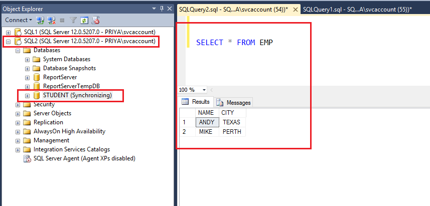 SQL Server AlwaysOn High Availability - verify the database at secondary replica