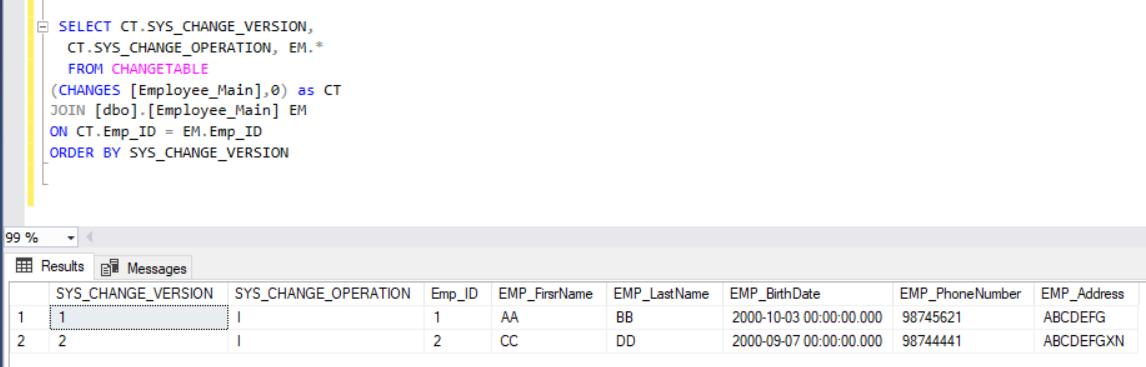 Creating a SQL Server audit using SQL Server Change Tracking