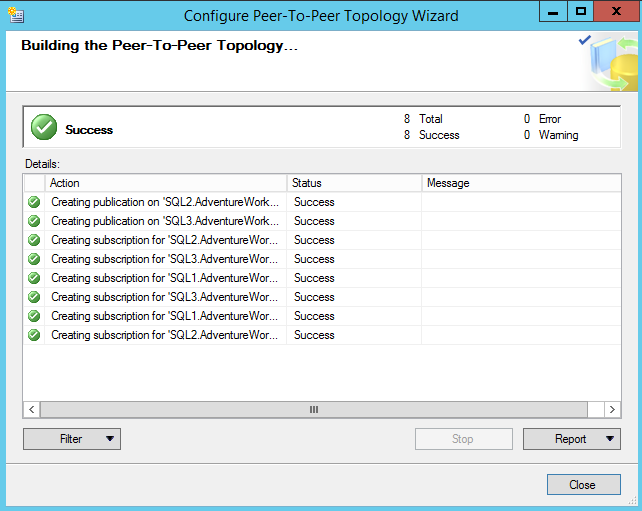 SQL Server replication  - Log Reader Agent Secruity - Buidling the Peer-to-Peer topology