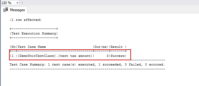SQL unit testing with the tSQLt framework for beginners