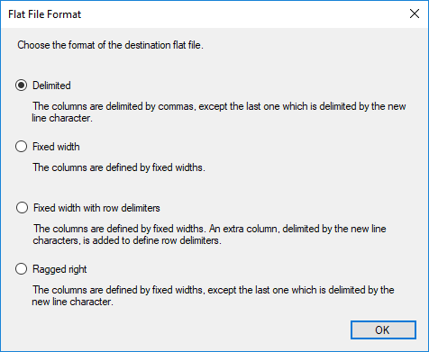 SSIS - Flat file format - Delimited