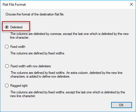 SSIS - Flat File Format
