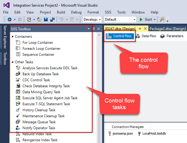 SSIS interview questions: SSIS Control flow tasks
