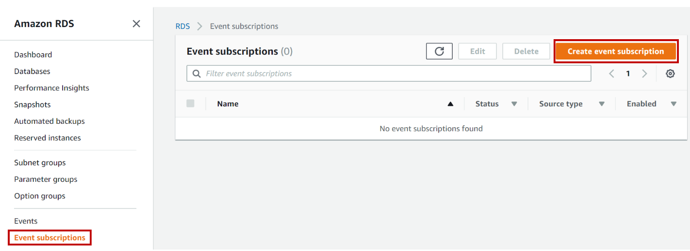 Create Event Subscription