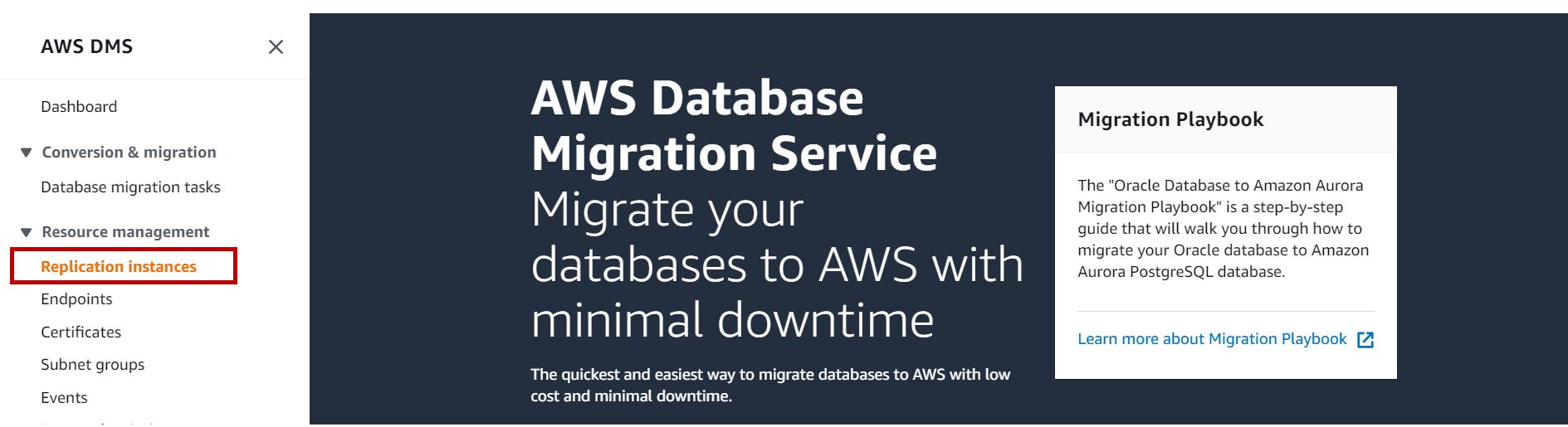 AWS RDS SQL Server Migration using AWS Database migration service