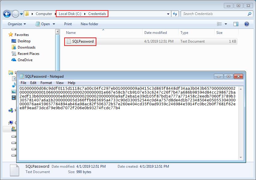 PowerShell encrypt password techniques for SQL Server