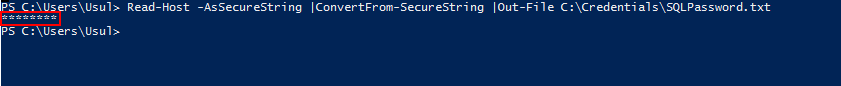 PowerShell encrypt password  - Secure password file