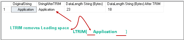 SQL TRIM function