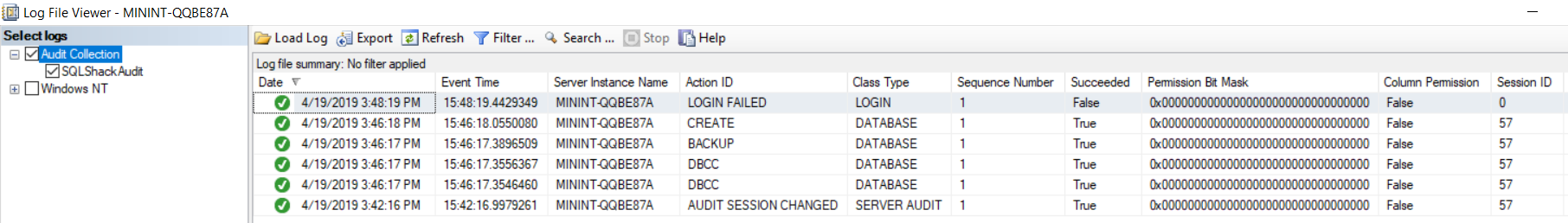 SQL Server Audit Log File Viewer 1