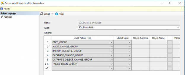 SQL Server Audit Specification