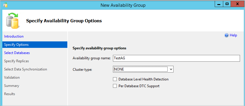 Clusterless availability Groups configuration
