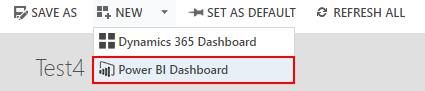 Create a new Power BI Dashboard in Dynamics 365