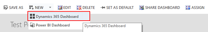 Create new Dynamics 365 Dashboard in Dynamics 365