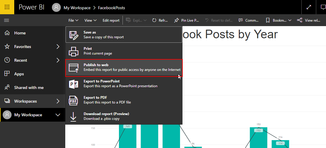 Embed Power BI report for public access by anyone on the internet