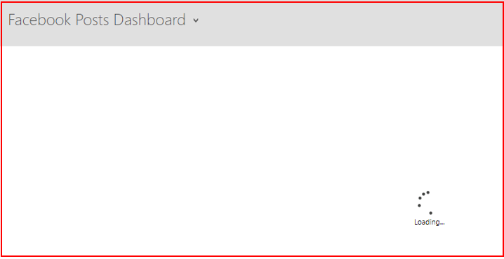 Power BI endless loading circle error